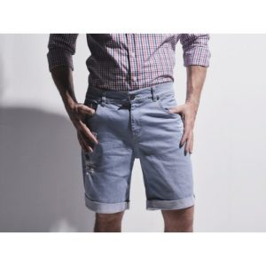 Light Blue Ripped Jeans Shorts