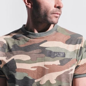 Army Tee With Fake Pocket