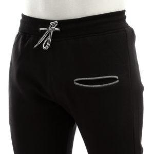 Melton Sweatpants with Side Stripe & Side Zipper