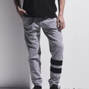 Grey Melton Pants with Strips