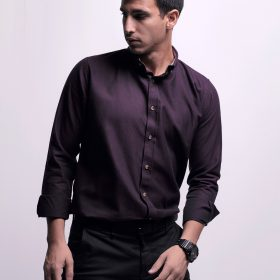 Long Sleeve Shirt with Contrast internal fabric