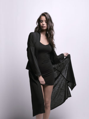 Black Long Cardigan