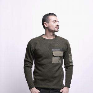 Pullover with Arm Pocket & Chest Zipper