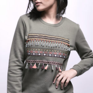 Sweatshirt with Chest Embroidery