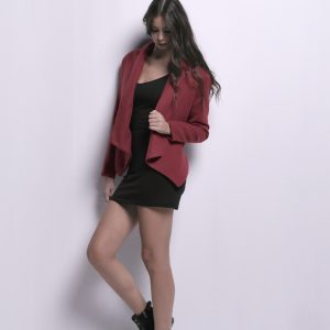 Short Jacket With Trim Detail