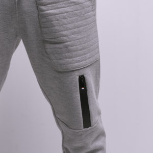 Melton Sweatpants with Padded Pockets & Side Zippers