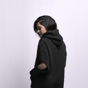 Black Sweatshirt with Elbow Slits