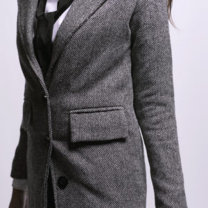 Black & Grey Long Blazer