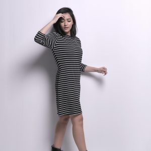 Black Striped Dress