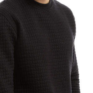 Sweatshirt with Carreaux Texture Fabric