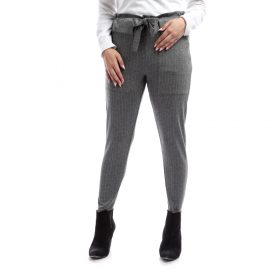 Grey Striped Pants