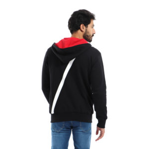 Melton Jacket with Hoodie & Back Logo
