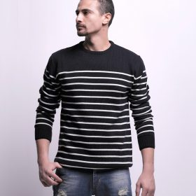 Striped Pullover with Crew Neck