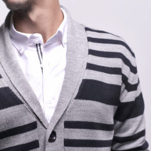 Striped Pullover with Buttons