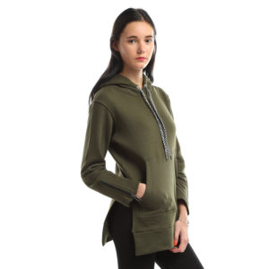 Sweatshirt with Side Zippers