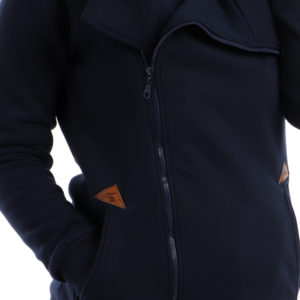 Melton Jacket with Side Zipper