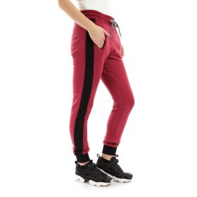 Melton Pants with Side Stripe