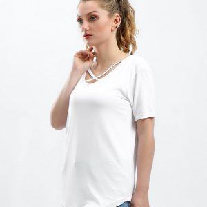 Criss Cross V-Neck T-Shirt