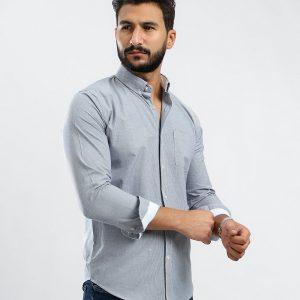 Long Sleeve Check Navy Shirt