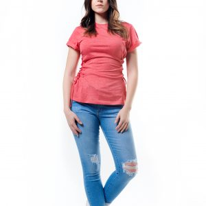Side Lace-up T-Shirt