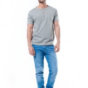 Buttoned Up T-Shirt - Gre