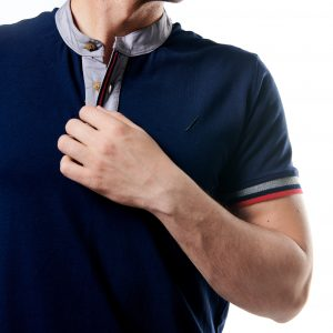 Stand-up Collar Polo Shirt