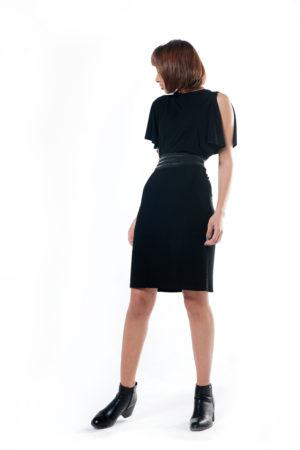 Short Dress With Wide Belt