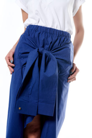 Flared Skirt With Belted Sleeves