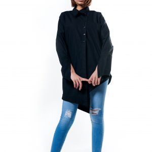 Long Blouse With Sleeve Slits