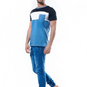 Color-blocked Pocket T-Shirt