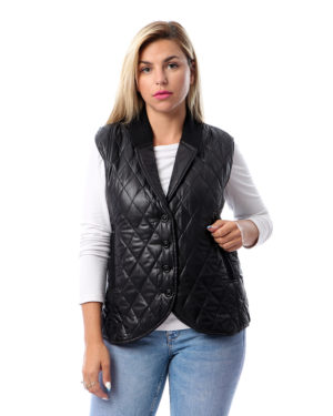 Quilted Vest With Buttons