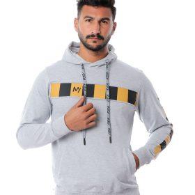 Hooded Sweatshirt With Strip