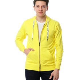 Basic Hooded Sweatshirt With Zipper