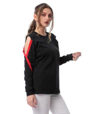 Cut On Sleeve Sweatshirt