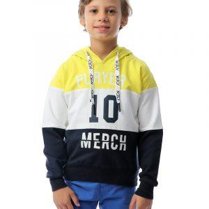 Color-Blocked Hoodie Sweatshirt