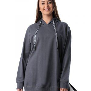 Oversize Side Zipper Hoodie Sweatshirt
