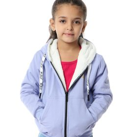 Zip-Up Sweatshirt With Fur