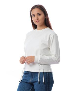 Lace-Up Side Sweatshirt