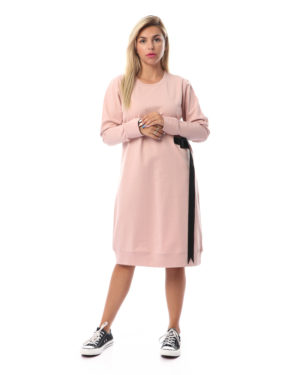 One Sided Belt Dress