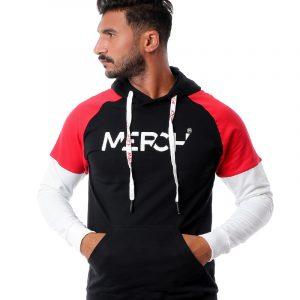 Contrast Sleeves Hoodie Sweatshirt