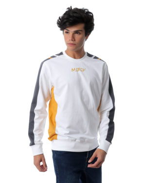 Striped Sleeve Sweatshirt With Side Panel