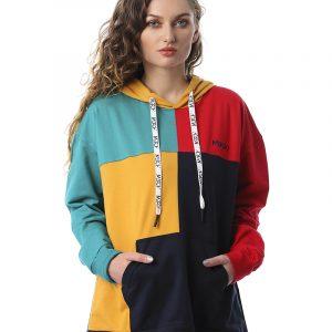 Color-Blocked Quarters Sweatshirt