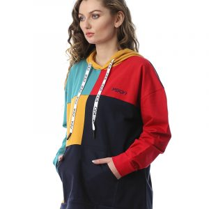 Color-Blocked Quarters Sweatshirt