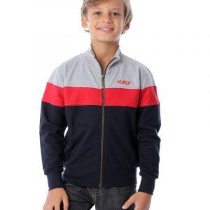 Color-Blocked Hoodie Sweatshirt With Zipper