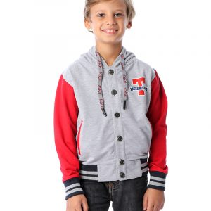 Hooded Sweatshirt With Buttons For Boys
