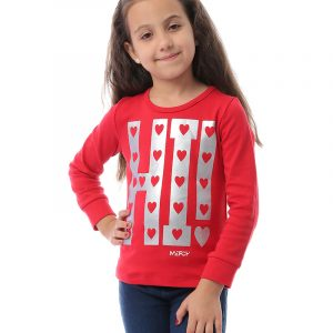 Hearts Sweatshirt For Girls