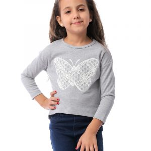 Butterfly Sweatshirt For Girls