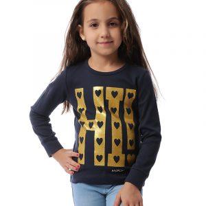 Hearts Sweatshirt For Girls