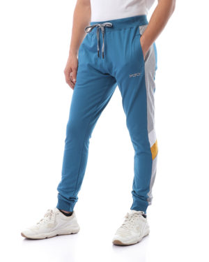 Melton Sweatpants With Side Stripe