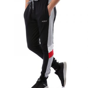 Melton Sweatpants With Side Stripe